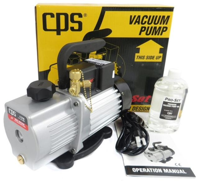 pump to create vacuum